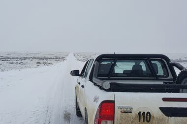 Nieve y fuertes vientos en el Sur