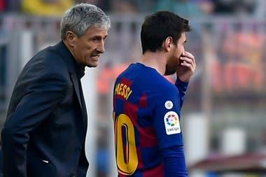 Quique Setién y Messi, una relación difícil en Barcelona; no hubo química entre el entrenador y el capitán argentino
