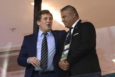 El paraguayo Alejandro Domínguez, presidente de Conmebol, hoy de tensa relación con Claudio Tapia.