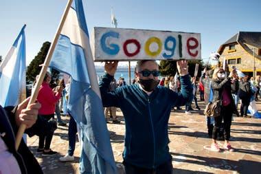 En la ciudad de Bariloche los manifestantes se congregaron en el Centro Cívico