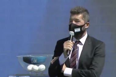 Marcelo Tinelli, durante la presentación del torneo.