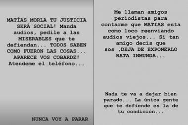Dalma Maradona volvió al ataque contra Matías Morla con una serie de picantes mensajes