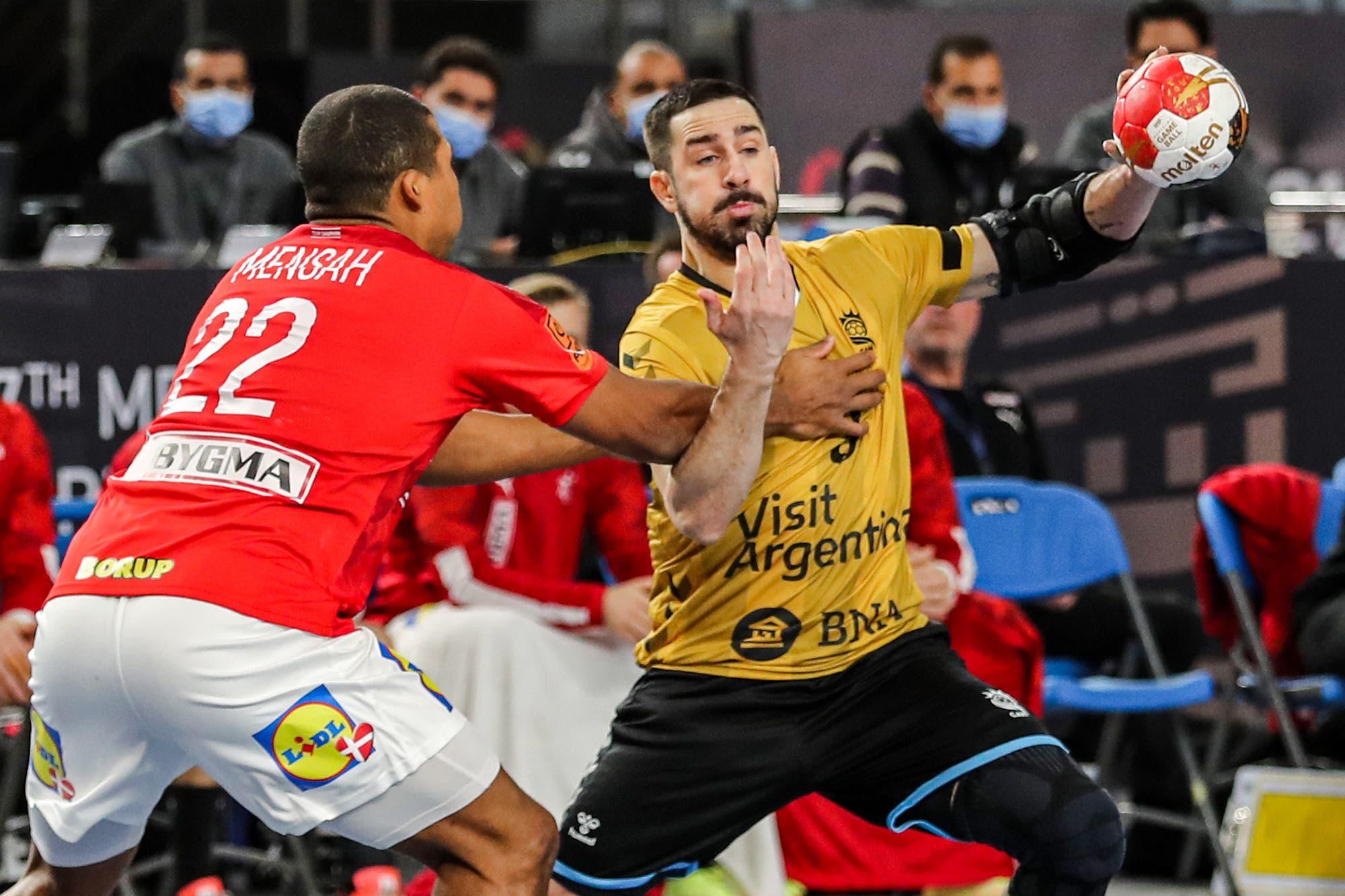 Mundial de handball: los Gladiadores no pudieron con Dinamarca y sufrieron una derrota que estaba en los cálculos