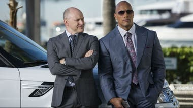 Rob Corddry y Dawyne Johnson en Ballers