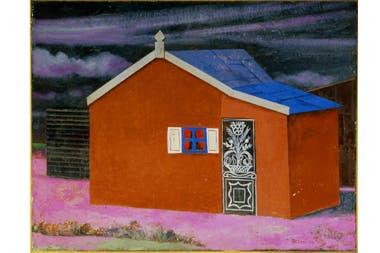 La casa roja con techo azul, Antonio Berni, 1954