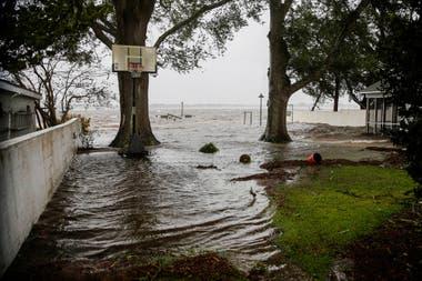 Toda la zona costera se encuentra inundada