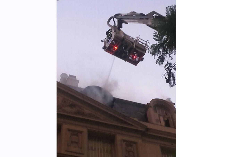 Incendio en la embajada de Corea del Sur