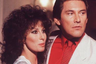 La actriz junto a Arnaldo André, en Amo y señor (1984)