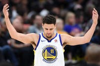 Los Splash Brothers, Thompson y Curry, en el club de los 200 triples en temporadas consecutivas