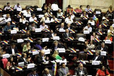 Sesión bicameral por el conflicto en Bolivia