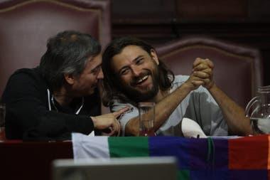 Máximo Kirchner y Juan Grabois