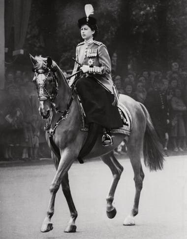 En junio de 1952, su último Trooping The Colour como princesa