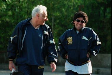 Aquellos tiempos: Guillermo Coppola y Diego Maradona