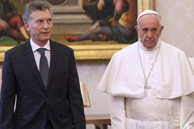 El encuentro entre Francisco y Macri en 2016