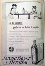 El Jarabe con heroína para niños que vendía Bayer