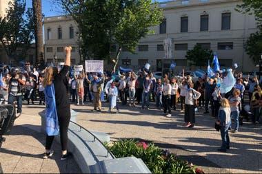 La manifestación en Pergamino