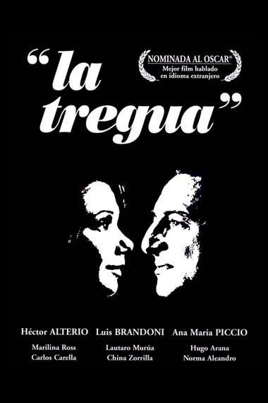Afiche de La tregua, primer película argentina candidata al Oscar