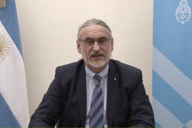 Luis Basterra, ministro de Agricultura, Ganadería y Pesca de la Nación, durante su exposición en Jonagro