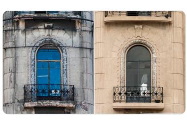 El antes y después de una de las ventanas
