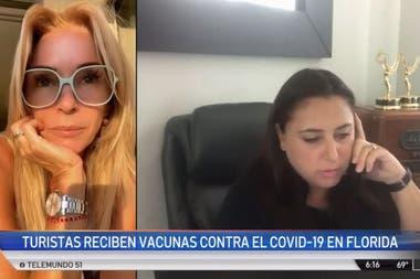 Yanina Latorre mostró la vacunación de su madre en sus redes sociales y fue una de las apuntadas por la TV de Miami
