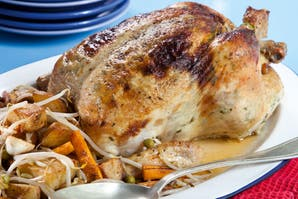 Pollo de verano con salteado de verduras