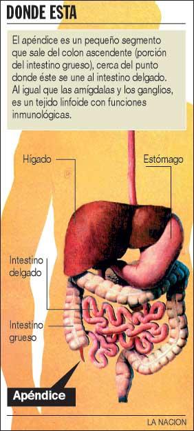 Operacion de apendicitis efectos secundarios