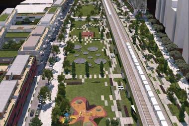 As es el proyecto urbano Palermo Green que el Gobierno proyecta sobre las antiguas playas ferroviarias del San Martn