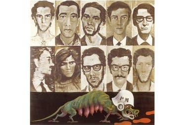 Los Rehenes, Antonio Berni, 1969