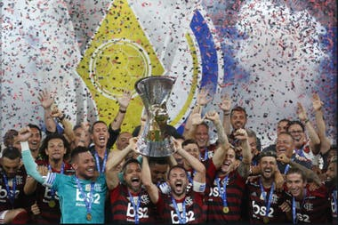 El festejo de Flamengo por la conquista del Brasileirao