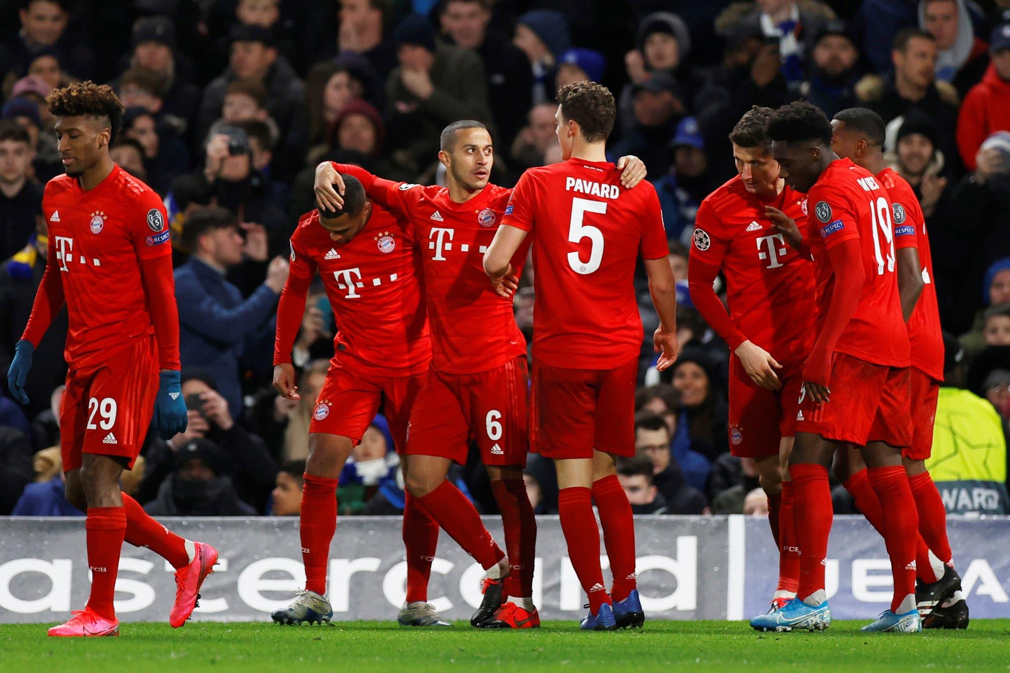 Bayern Munich goleó 3-0 a Chelsea en Inglaterra y tiene todo servido para avanzar a los cuartos de final de la Champions League