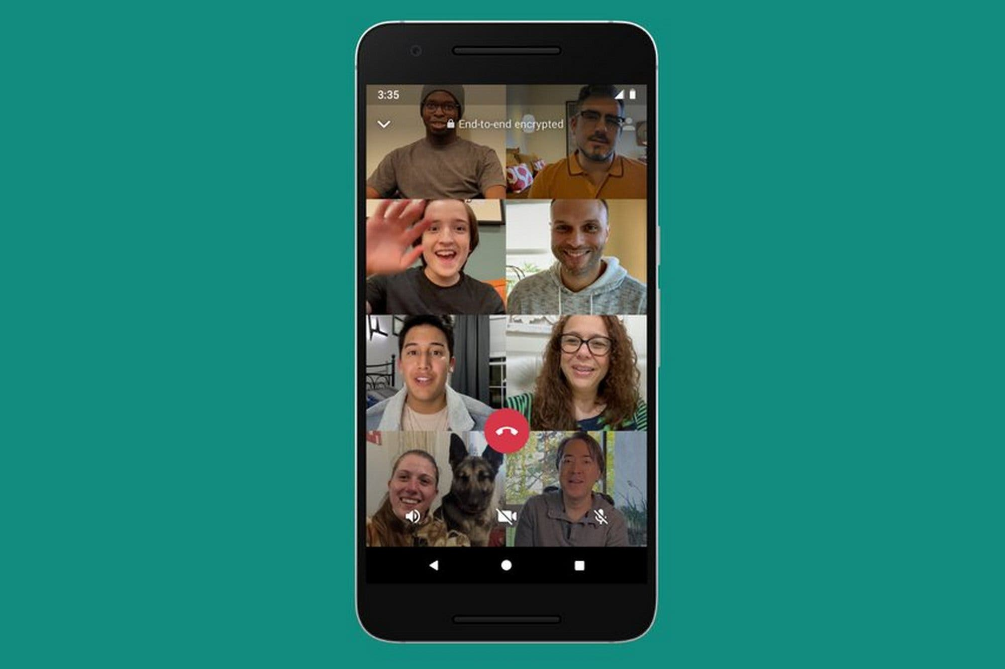 WhatsApp ya permite realizar videollamadas con ocho integrantes en Android y iPhone