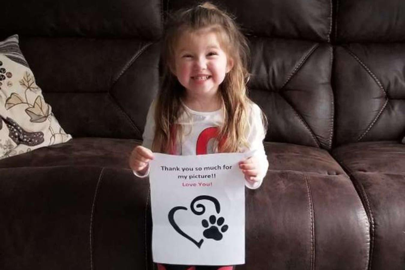 Gracias al trabajo de un comprometido cartero, la niña recibió una respuesta
