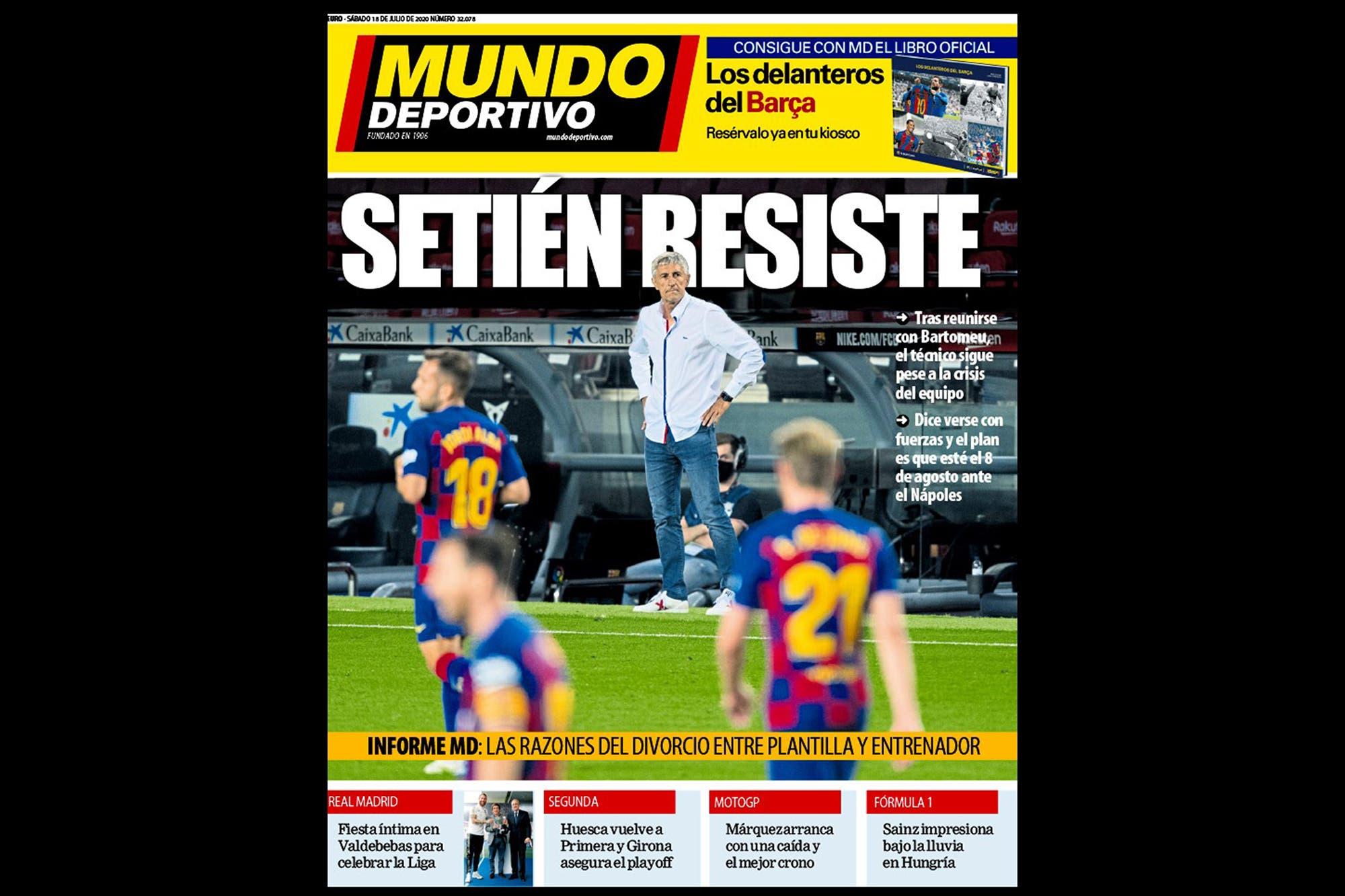 Setién sigue en Barcelona, pero la percepción general es que tiene las horas contadas: la relación con el plantel es nula