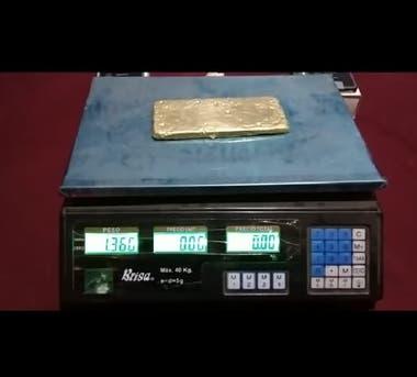 Fue encontrado en Clorinda un lingote de 1,300 kilo de oro