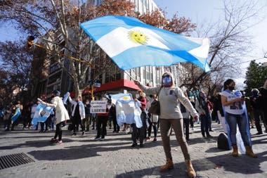 La protesta en Mendoza