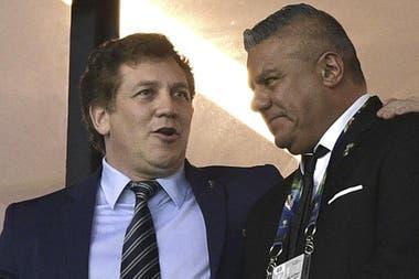 Alejandro Domínguez, presidente de la Conmebol, y Claudio Tapia, presidente de la AFA.