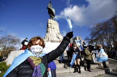 El banderazo en Mar del Plata