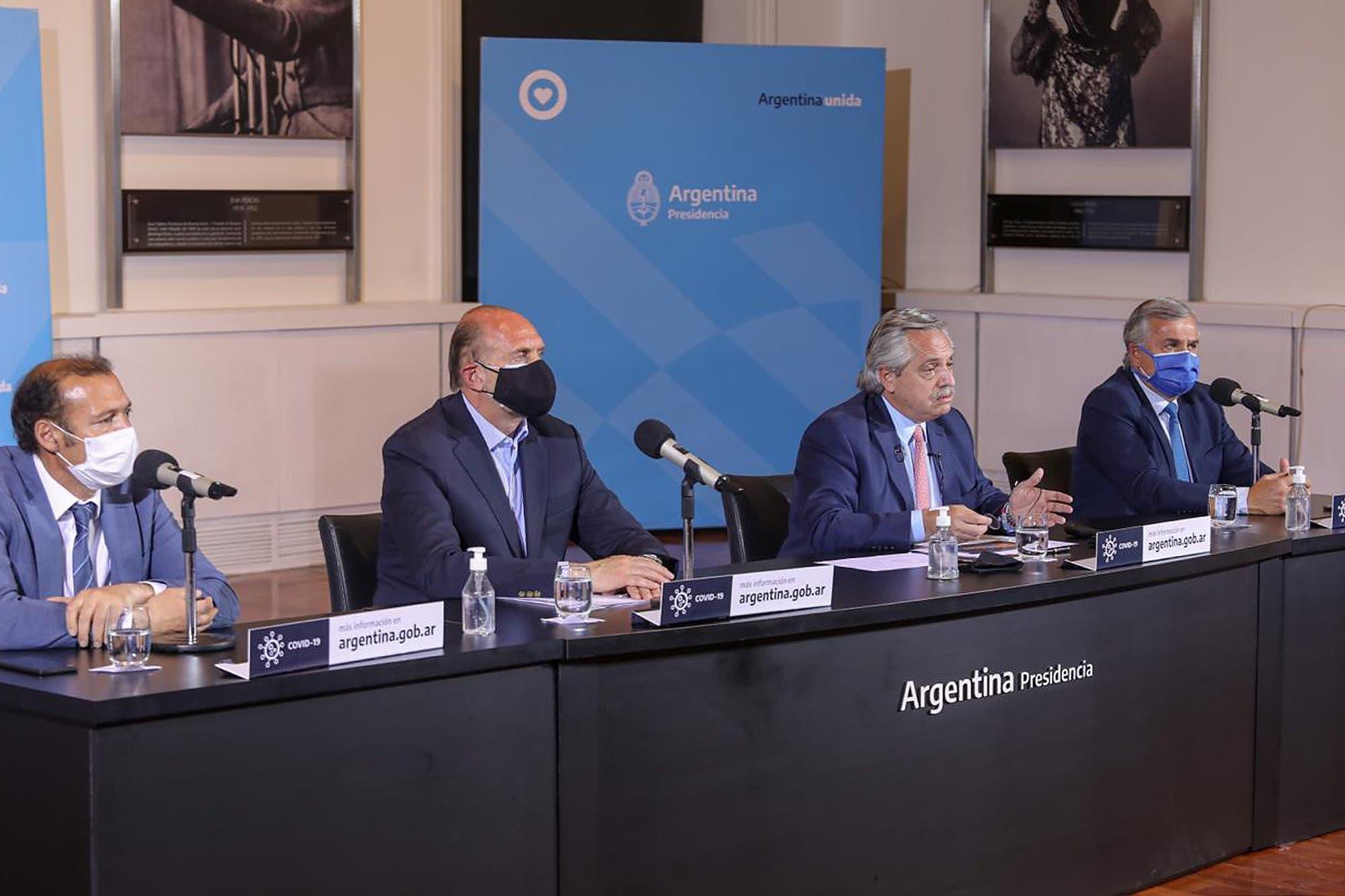 Coronavirus: Alberto Fernández anunció que instrumentarán medidas para restringir la circulación en ciudades de 18 provincias