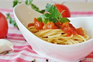 Spaghettis con vegetales