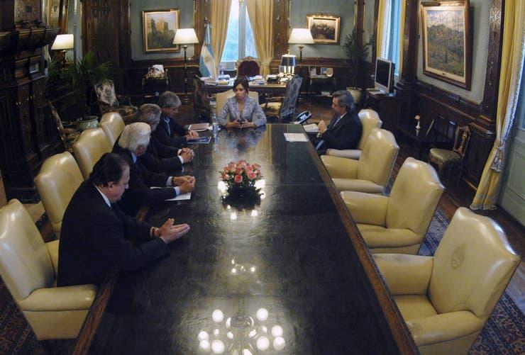 Cristina recibe a la Mesa de Enlace