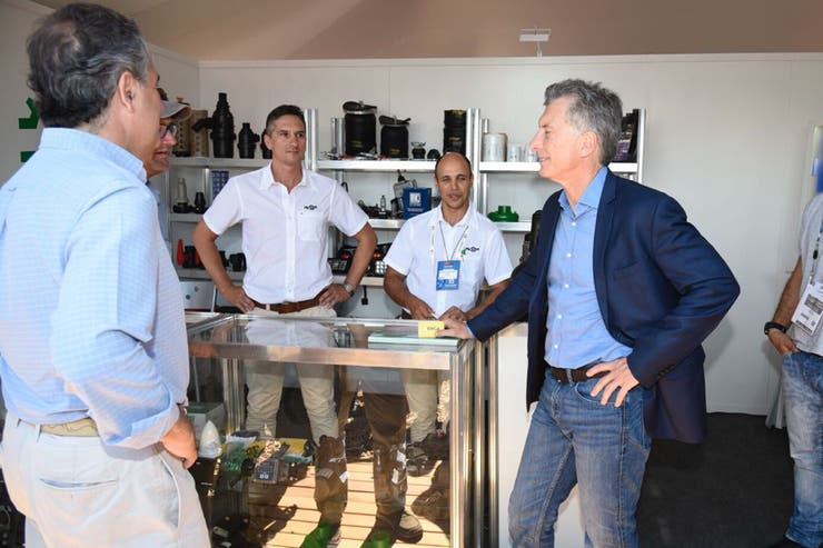 Macri Inauguró Expoagro y recorrió las instalaciones