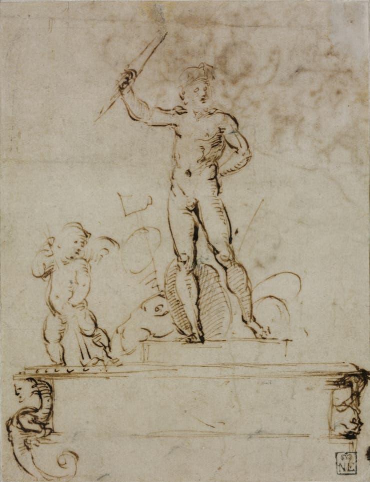 Diseño para una decoración temporal (1508-09), de Rafael