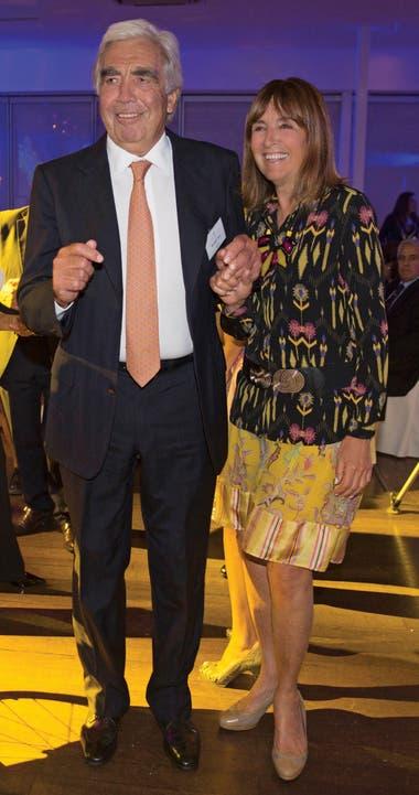 """Germán Frers donó el diseño y los planos. Y Luisa Miguens, su compañera de vida y travesías (única mujer entre los 21 socios fundadores) contagia de entusiasmo a la hora de colaborar y buscar fondos. """"Un barco a vela es muy buen vehículo para unir a la gente"""", dijo Frers. FOTO: JUAN RONCORONI"""
