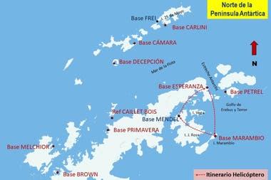 Antártida: Integrantes de las fuerzas armadas argentinas rescataron a una dotación de 13 científicos de la República Checa que se encontraba varada en la Antártida, bajo adversas condiciones meteorológicas.