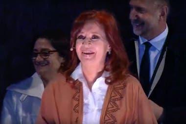 Cristina Kirchner en el acto de cierre en Rosario