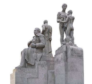 Monumento a Roque Saenz Peña, en Florida y Roque Sáenz Peña