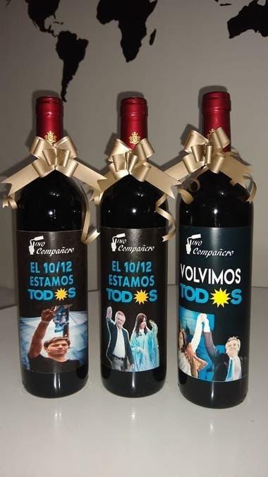 """El vino """"compañero"""", parte del merchandising del traspaso presidencial"""