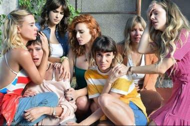 El elenco de Separadas, donde Mónica le daba vida a Clara Rivero