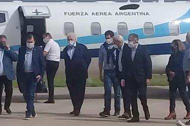Ginés Gonzáles García y Wado de Pedro fueron recibidos por Gerardo Zamora
