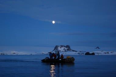 El equipo de trabajo del Grupo Ictiología Insituto Antártico Argentino